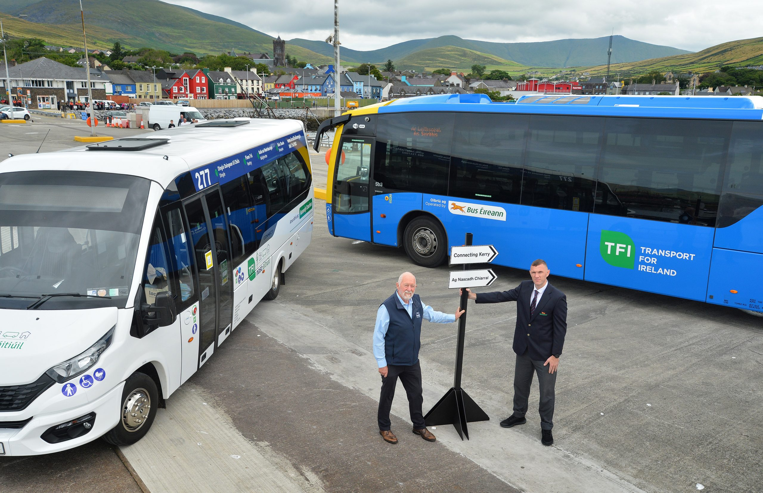 Paddy Kennedy, Kennedy Coaches operating TFI Local Link Kerry service, Wayne Moriarty driver Bus Éireann